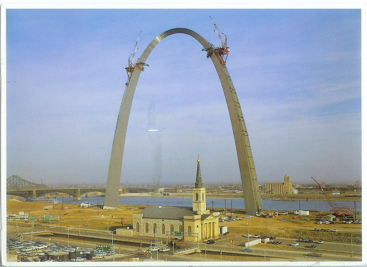 This day in history oct 28 2014 gateway arch statue of for Architect st louis mo
