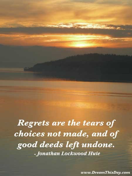The Futility of Regret