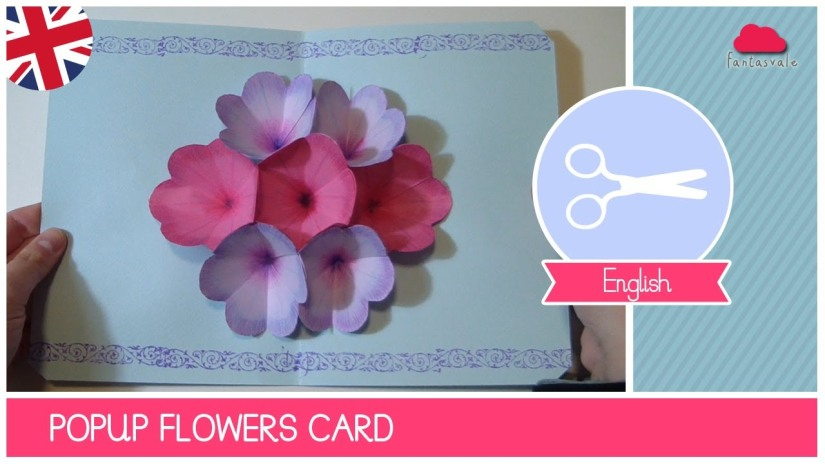 Pop Up Floral Greeting Card